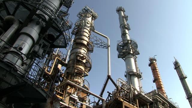 MS Shot of Oil refinery holborn / Hamburg, Germany