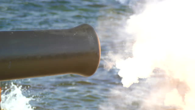 shot of old ship's cannon - artillery stock videos & royalty-free footage