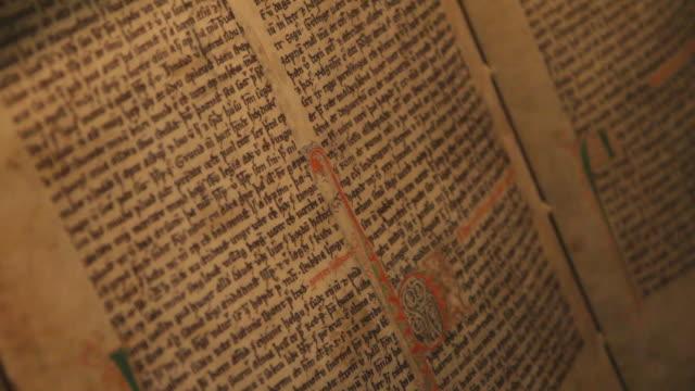 xu tu shot of old viking manuscript / hverageroi, sudhurland, iceland - manuscript stock videos and b-roll footage