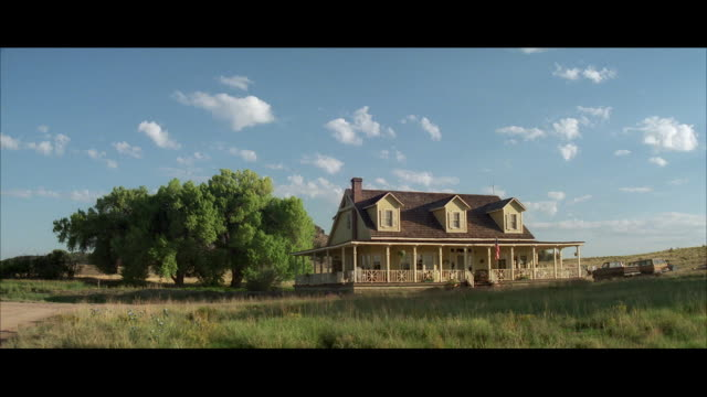 ws shot of older wooden farmhouse / unspecified - establishing shot stock videos & royalty-free footage
