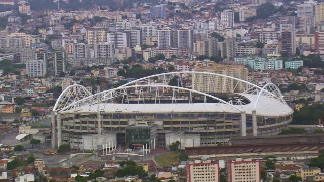 ms aerial zo shot of olympic stadium / rio de janeiro, brazil - sport venue stock videos & royalty-free footage