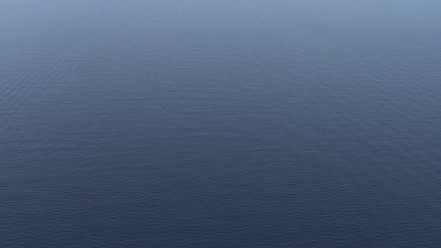 MS AERIAL Shot of open water / Dodecanese, Greece