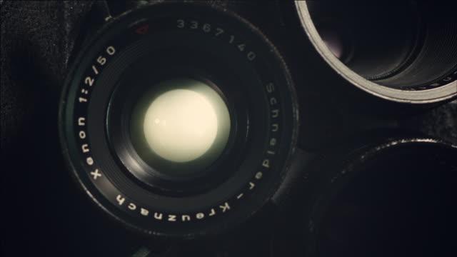 Shot of opening Aperture of film camera