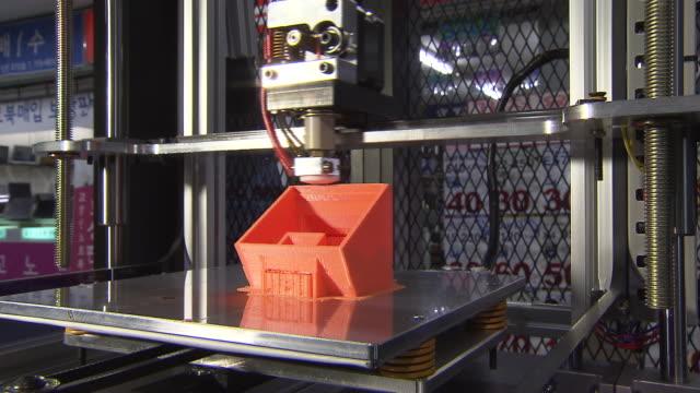 Shot of Operating 3D Printer