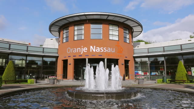 ws shot of oranje nassau pavillon at keukenhof gardens / lisse, south holland, netherlands - oranje stock videos & royalty-free footage
