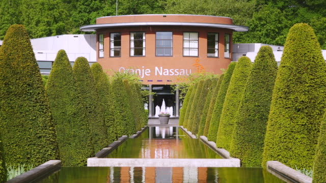 ws shot of oranje nassau pavillon at keukenhof gardens / lisse, south holland, netherlands - south holland stock videos and b-roll footage