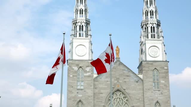 Shot of Ottawa Notre DameCathedral