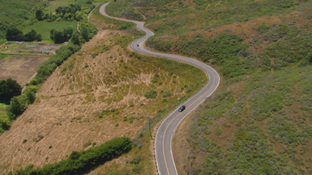 vidéos et rushes de ms ts aerial shot of pacific coast highway towards muir beach / marin county, california, united states - 20 secondes et plus
