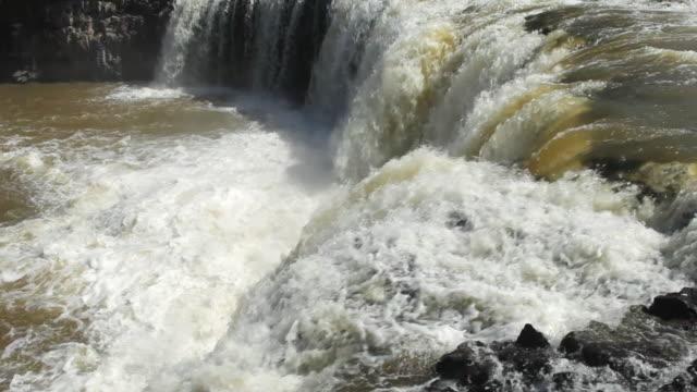 MS TU Shot of Paihia Waterfall / Paihia, New Zealand