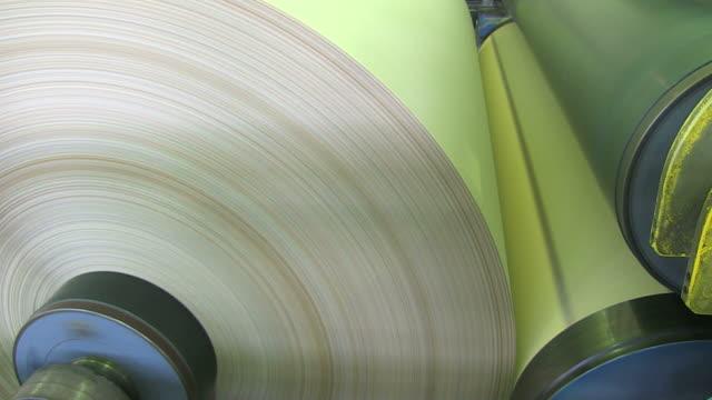CU TU Shot of paper machine at paper mill / Weener, Lower Saxony, Germany