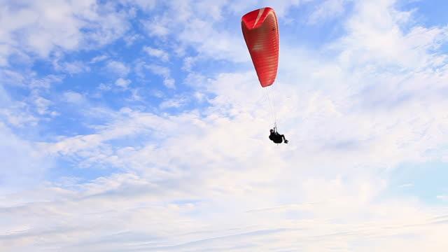 WS LA Shot of Para glider flying in air / Belo Horizonte, Minas Gerais, Brazil