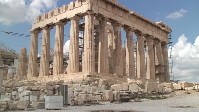 MS Shot of Parthenon / Athens, Greece