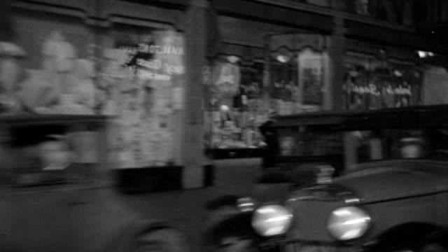 ms pov shot of passenger side traveling through streets of los angeles passing storefronts - butiksskylt bildbanksvideor och videomaterial från bakom kulisserna