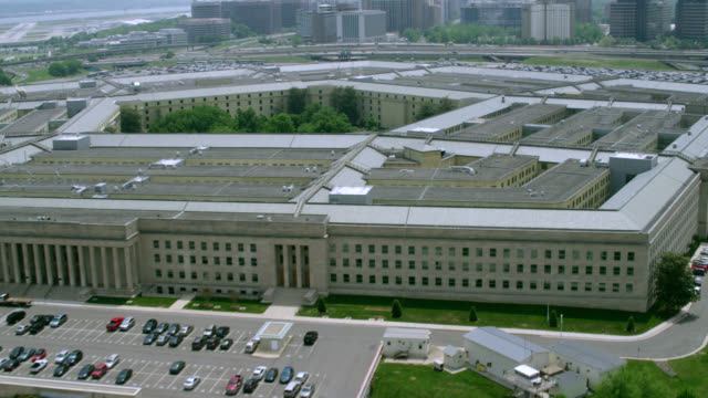 """ws aerial shot of   pentagon / washington dc, united states"" - pentagon stock-videos und b-roll-filmmaterial"