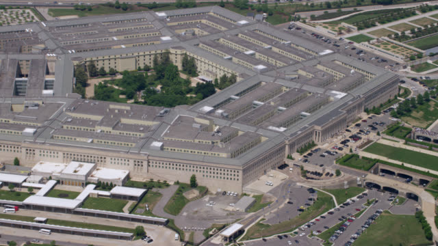 """ha zi aerial shot of   pentagon / washington dc, united states"" - the pentagon stock videos & royalty-free footage"
