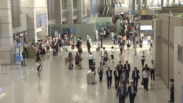 Shot of people at Incheon International Airport