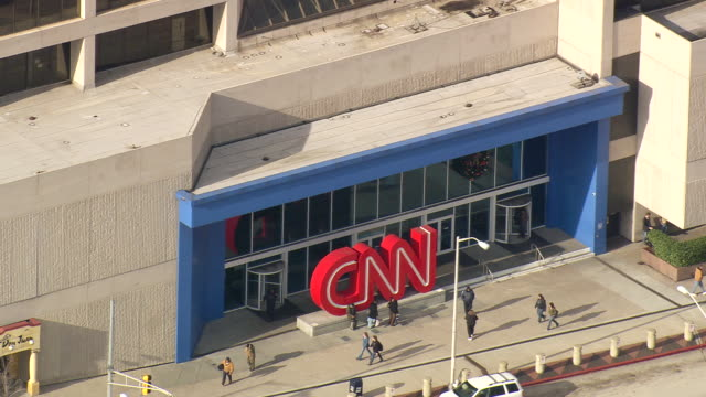 ms aerial shot of people roaming at cnn centre / georgia, united states - cnn stock videos & royalty-free footage