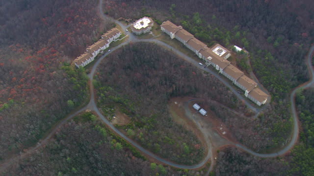MS AERIAL Shot of Pisgah National Forest / North Carolina, United States