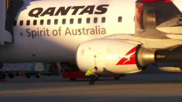 cu zo shot of plane / mascot, new south wales, australia - examining stock videos & royalty-free footage