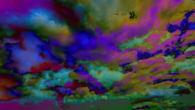 ms t/l shot of psychedelic clouds / germany - psychedelic stock videos & royalty-free footage