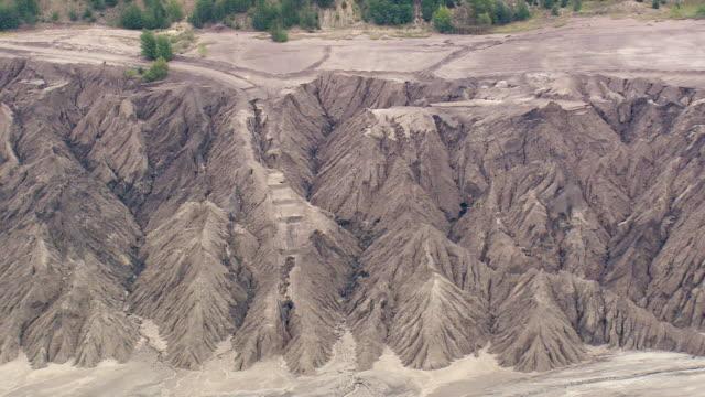 MS AERIAL Shot of quarry near Welzow / Germany