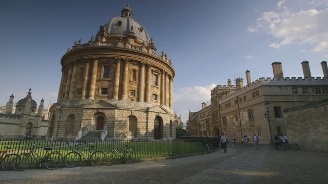 ws shot of radcliffe oxford / oxford, oxford shire, united kingdom - oxford england stock videos & royalty-free footage