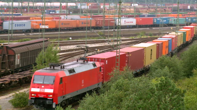 ms shot of railroad yard maschen near hamburg / maschen, lower saxony, germany - shunting yard stock videos and b-roll footage