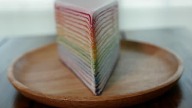 虹のケーキのショット - ベルベット点の映像素材/bロール