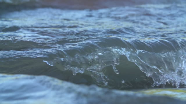 ecu slo mo shot of rapids in river / kruger national park, mpumalanga, south africa - krüger nationalpark stock-videos und b-roll-filmmaterial