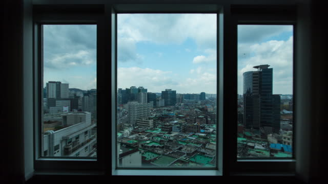 vídeos de stock, filmes e b-roll de shot of residential district at garibong-dong in guro-gu all day long - dia