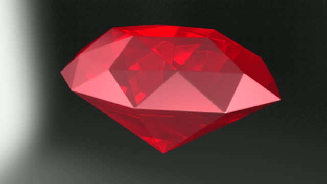 MS Shot of revolving ruby / Greece