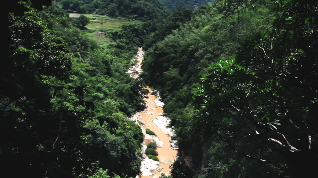 stockvideo's en b-roll-footage met ms tu shot of river in araku valley / visakhapatnam, andhra pradesh, india - valley