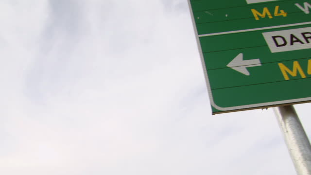 ms la pan shot of road sign board / cape town, south africa - western script stock videos & royalty-free footage