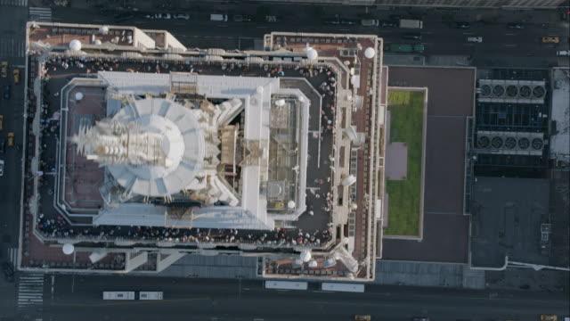 """ws ha pan aerial shot of rockefeller center / new york city, united states"" - rockefeller centre stock videos & royalty-free footage"