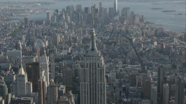 'WS HA AERIAL Shot of Rockefeller Center / New York City, United States'