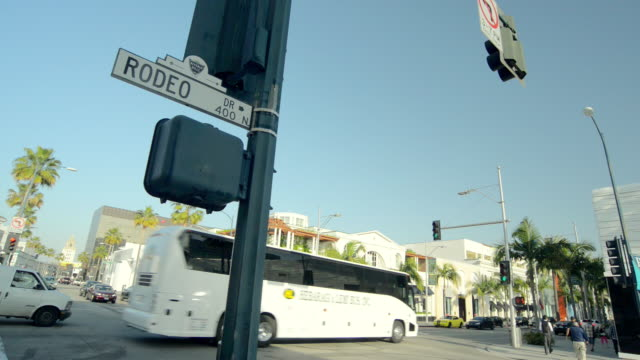 MS Shot of Rodeo Drive sign in Beverly Hills / Beverly Hills, California, United States