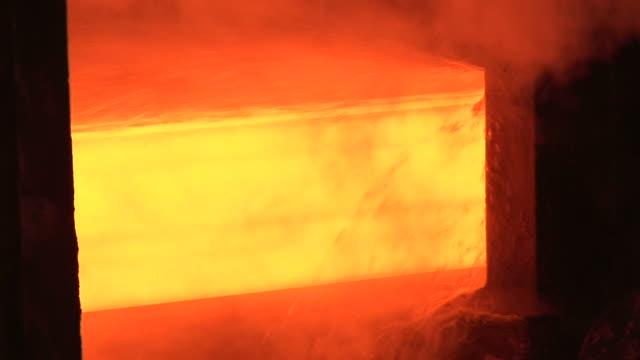MS Shot of rolling mill at steel mill / Volklingen, Saarland, Germany