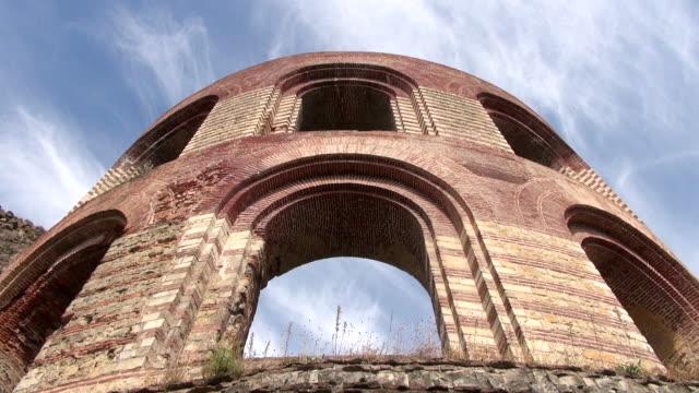 MS Shot of romain ruins of Kaiserthermen / Trier, Rhineland Palatinate, Germany