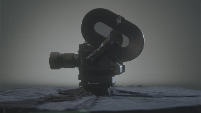 Shot of Rotating film movie camera