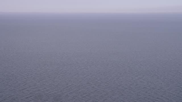 'WS ZI TS AERIAL Shot of running boat / Culpeper VA to Kearny, United States '
