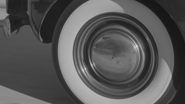 ECU POV Shot of running car wheel