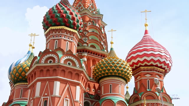 cu shot of saint basil / moscow, russia - russia stock videos & royalty-free footage
