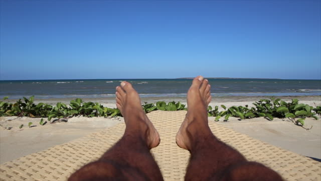 shot of sandy feet on the beach - varadero stock videos and b-roll footage