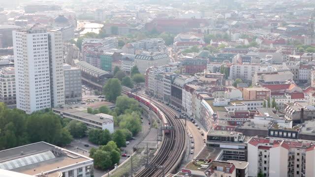 WS Shot of S-Bahn Hackescher Markt in daylight / Berlin, Berlin, Germany