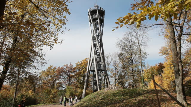 ws shot of schlossberg tower / freiburg, baden-wurttenberg, germany                - baden wurttemberg stock videos and b-roll footage