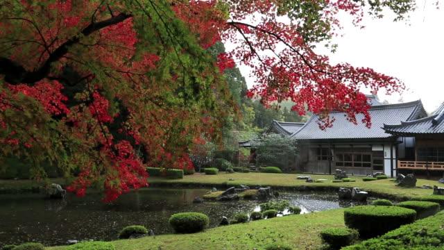 ms shot of sesshu garden / yamaguchi, yamaguchi prefecture, japan - chan buddhism stock videos & royalty-free footage