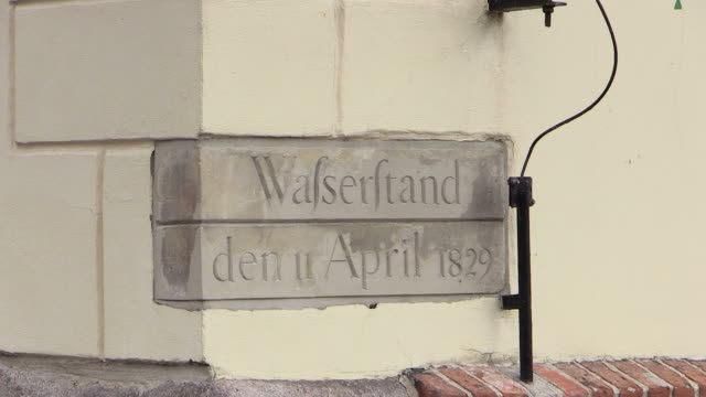 ms shot of sign boar / gdansk, baltic coast, poland - western script stock videos & royalty-free footage