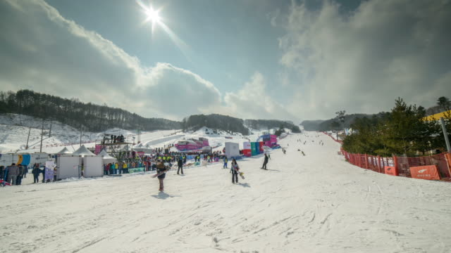 Shot of Ski Resort in Pyeongchang (2018 Winter Olympics)