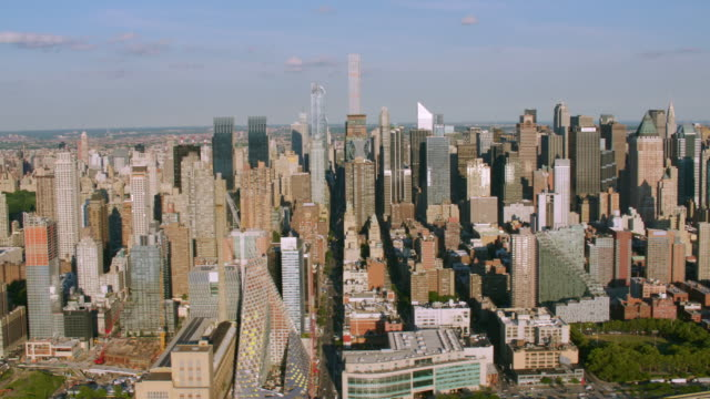 'WS AERIAL Shot of skyline / New York City, United States'