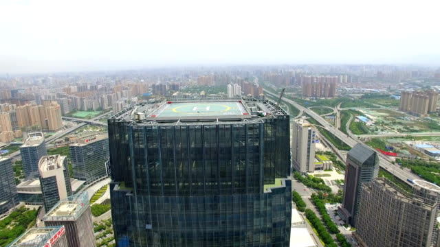 AERIAL shot of Skyscraper and cityscape/Xi'an,China